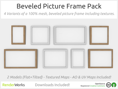 Beveled Picture Frame Pack